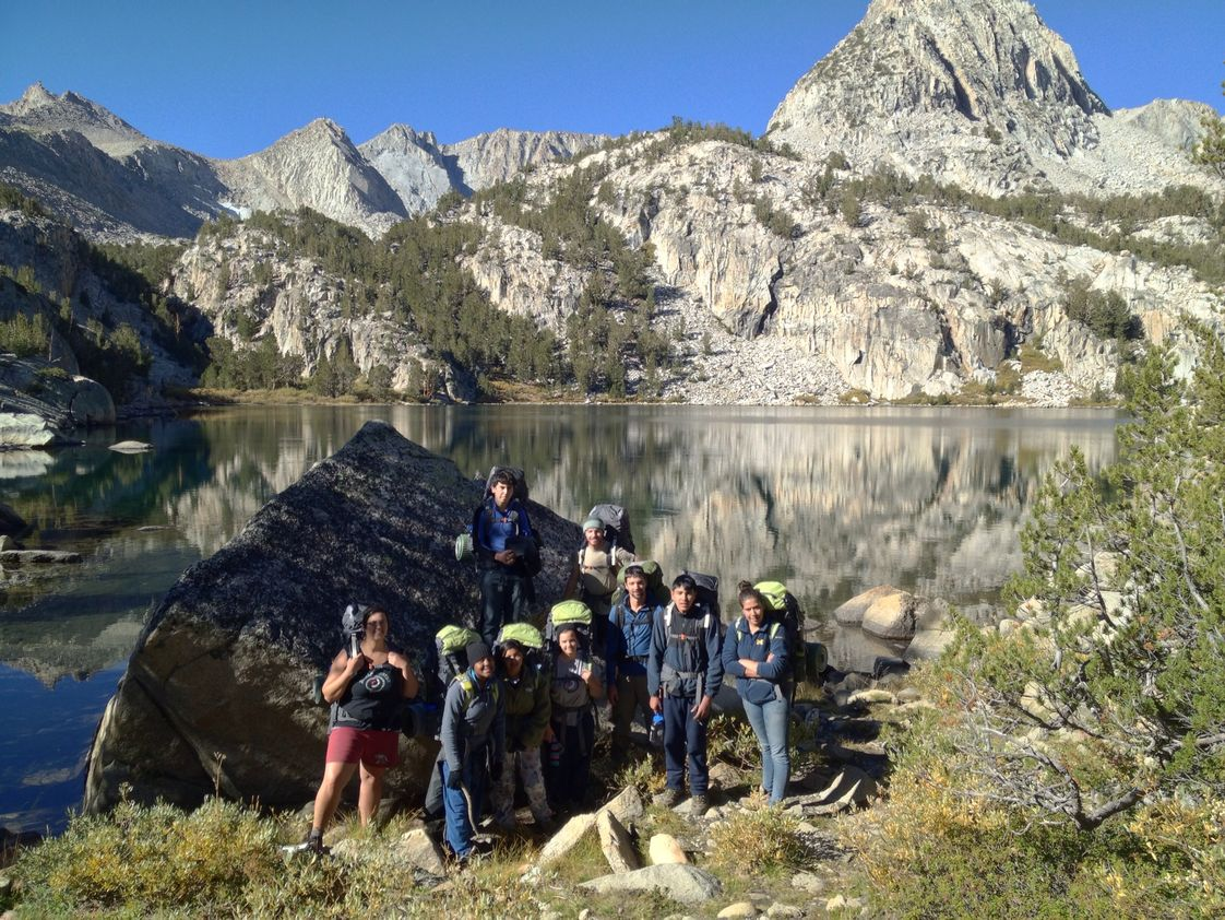 Dream Center Academy Photo - Students attending a student leadership development course in the Inyo National Forest.