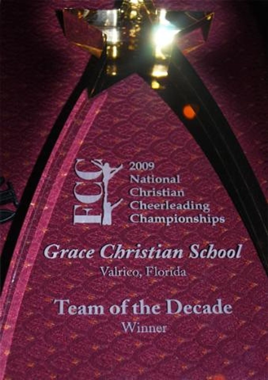 Grace Christian School Photo - We are so proud of our Cheerleaders and coaches - Winners of Cheerleading Team of the Decade!