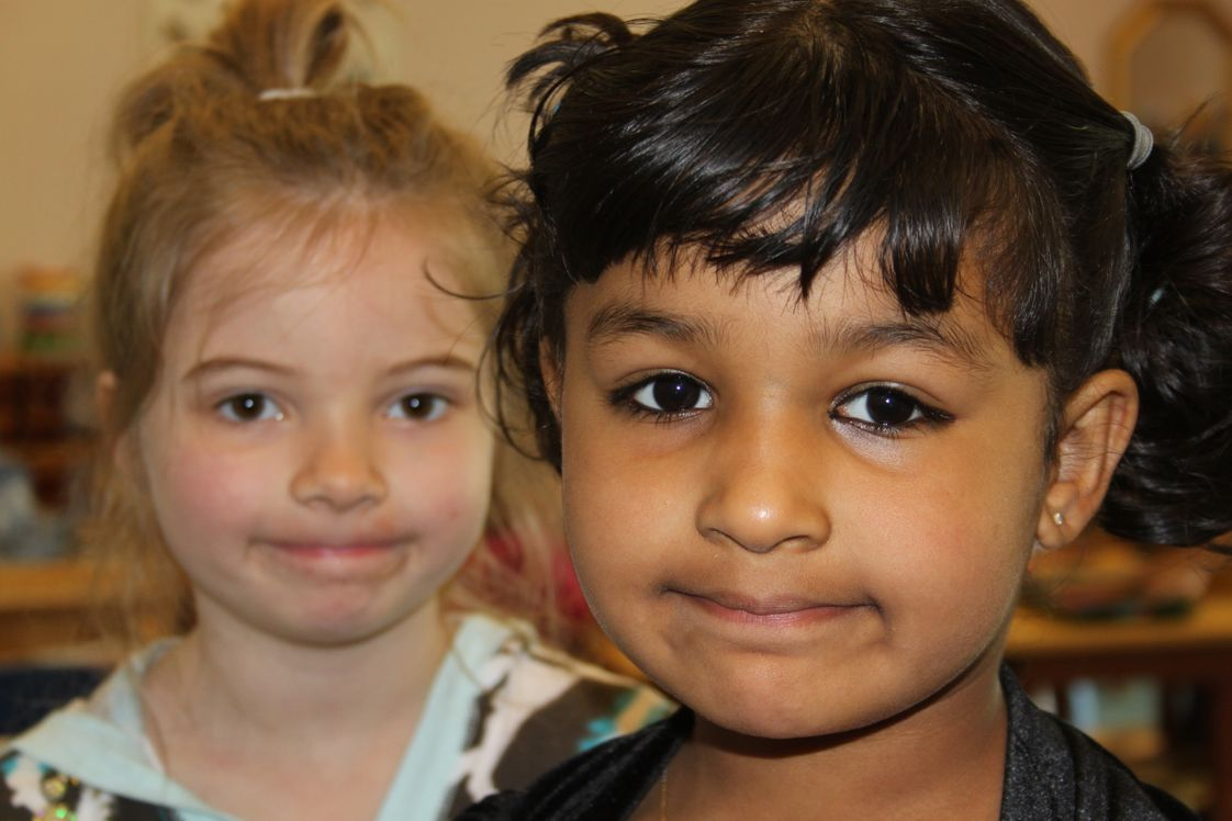 The Happy Childrens Montessori Photo - Two happy students.