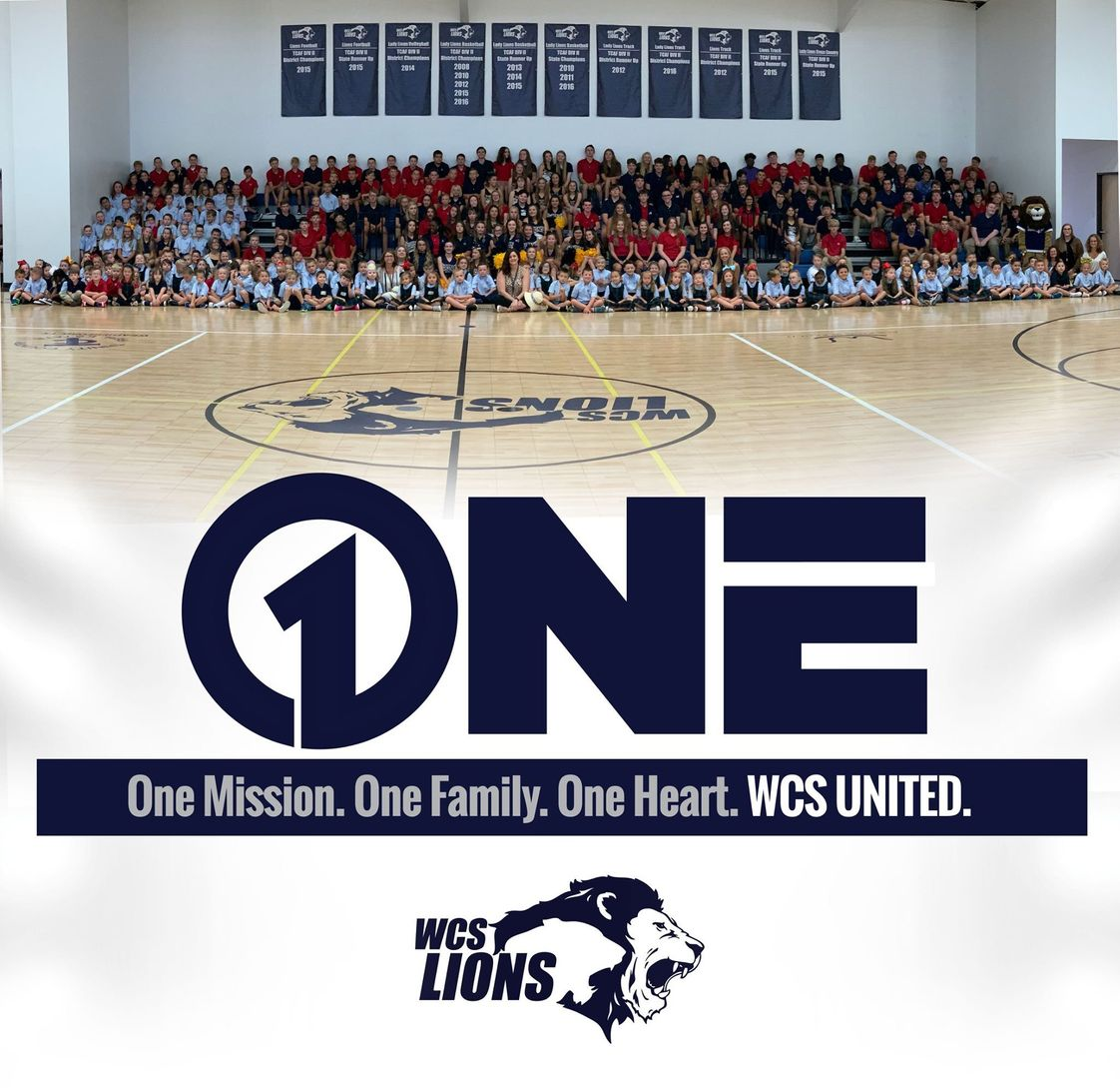 Weatherford Christian School Photo - One Mission. One Family. One Heart. WCS UNITED.