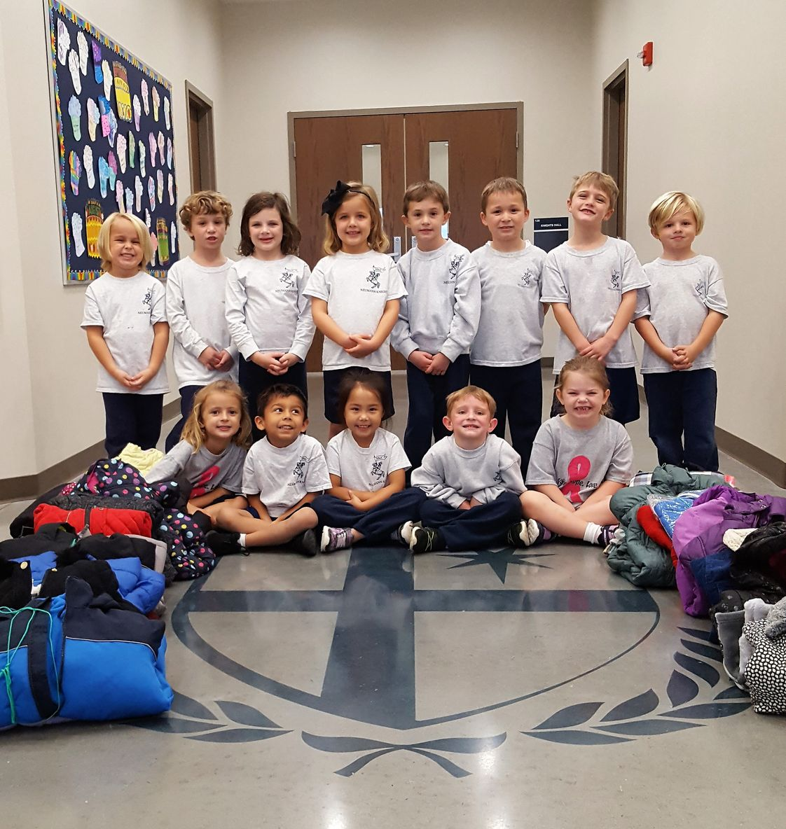 St. John Neumann Academy Photo #1 - Kindergarten Service Project - Coats for Kids