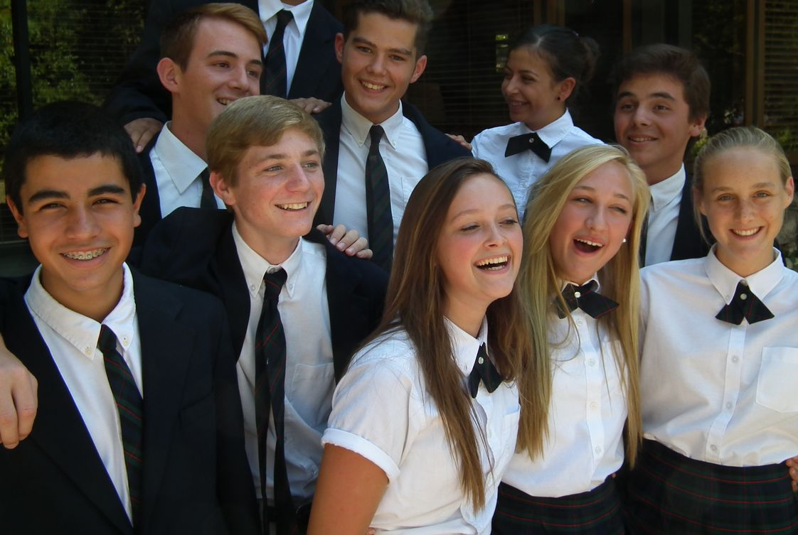 St. Monica Academy Photo - St. Monica Academy's high school student body is close-knit and happy.
