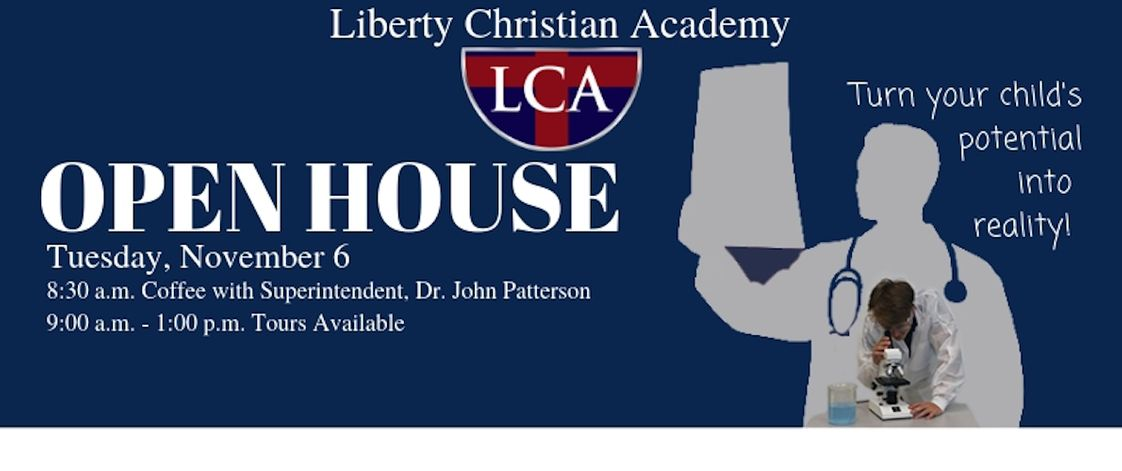 Liberty Christian Academy Photo #1 - Come join us on Tuesday, Nov. 6 for coffee with the superintendent at 8:30 then take a tour beginning at 9 am! For more information, please call Amy Saylor at 434-832-2000!