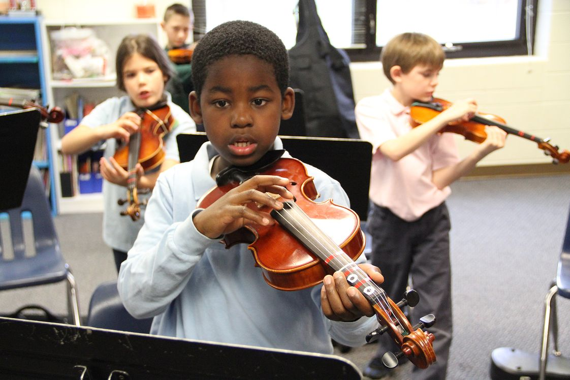 Canterbury School Photo - String instrument instruction begins in Grade 3 and continues through Grade 12.