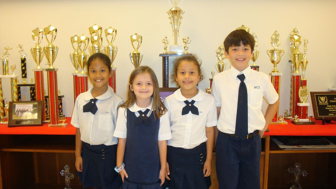 Humble Christian School Photo - These are a few of our elementary students who received superior ribbons during the ACSI Speech Meet.