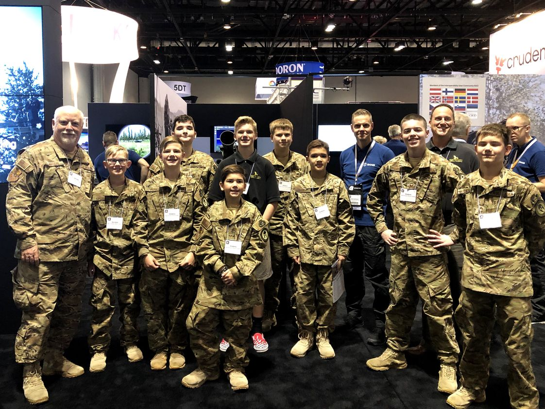 Eagle Aerospace Military Academy Photo - Cadets of Eagle Aerospace Academy attend the ITSEC 2019 Military Simulation Show in Orlando. This show is an annual STEM related experience for our Cadets!