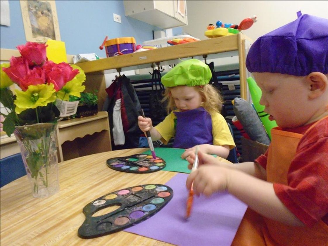Elmhurst KinderCare Photo - We provide independent two-year-olds opportunities to express themselves through art, movement, drama, and music.