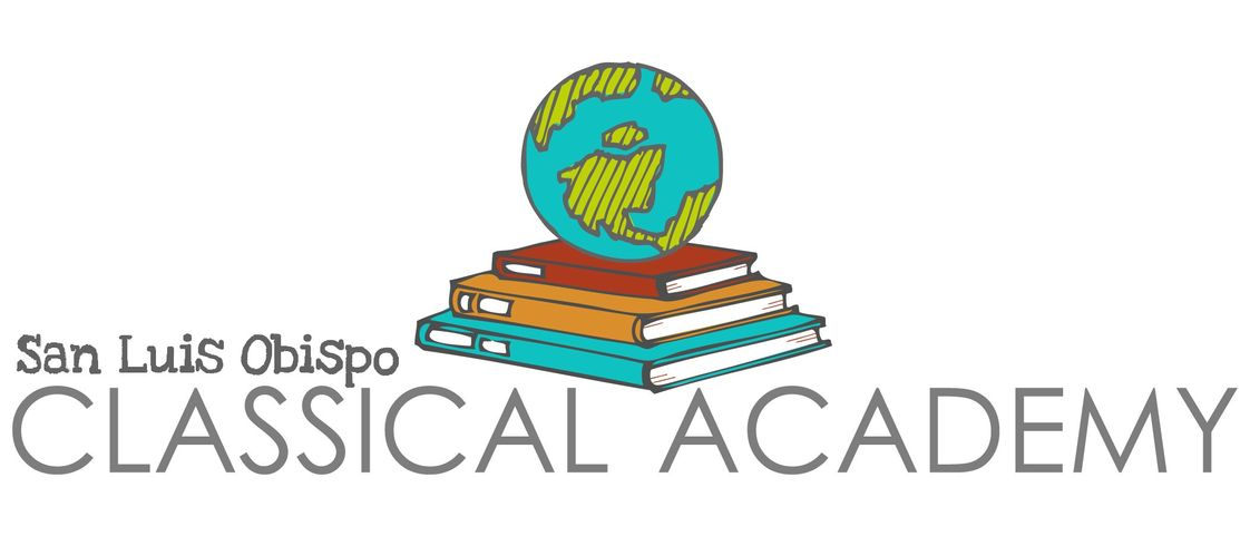 San Luis Obispo Classical Academy Photo #1 - San Luis Obispo Classical Academy logo and bumper sticker.