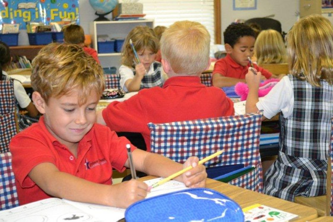 Prince Of Peace Catholic School Photo #1 - Getting busy in 1st Grade!