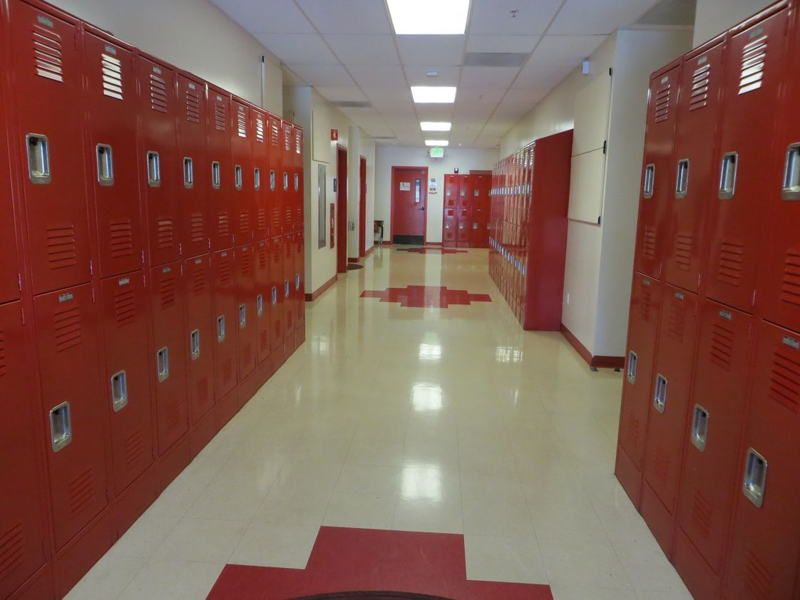 Redeemer Lutheran School Photo - Lockers for all students in grades 4th-8th