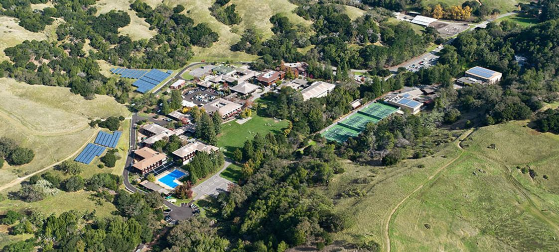 San Domenico School Photo - Located on 515 acres in San Anselmo, Caifornia, our campus features state-of-the art academic facilities, a music conservatory, riding stables, swimming pool, gymnasium, one-acre organic garden, 2,358 solar panels, and six tennis courts.