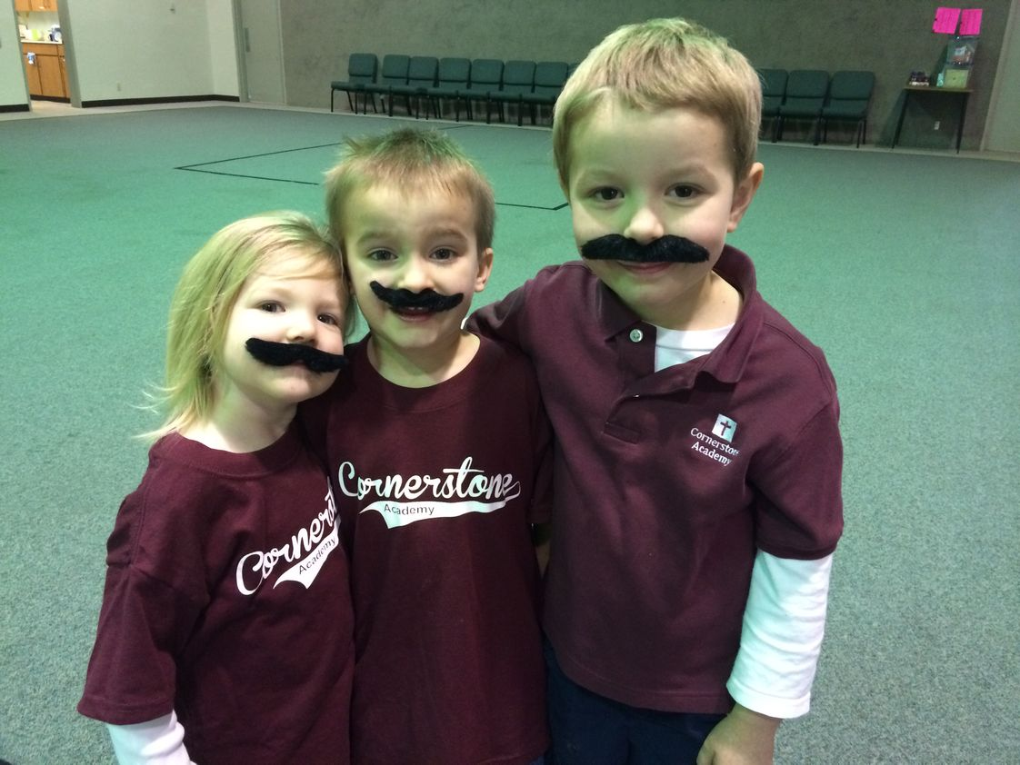 Cornerstone Academy Photo - Spirit Wear day! We have a warm family community at Cornerstone Academy.