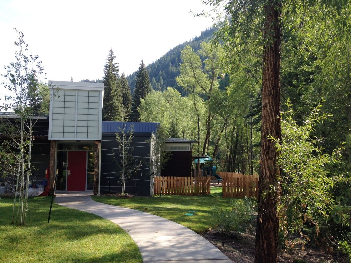 Aspen Country Day School Photo #1 - Country Day enjoys a beautiful forested campus on Castle Creek. Ponds and mountains provide an ideal natural environment for learning in the outdoors. The entire campus was redone and reopened in 2016 with state-of-the-art classroom buildings that inspire learning and foster creativity.