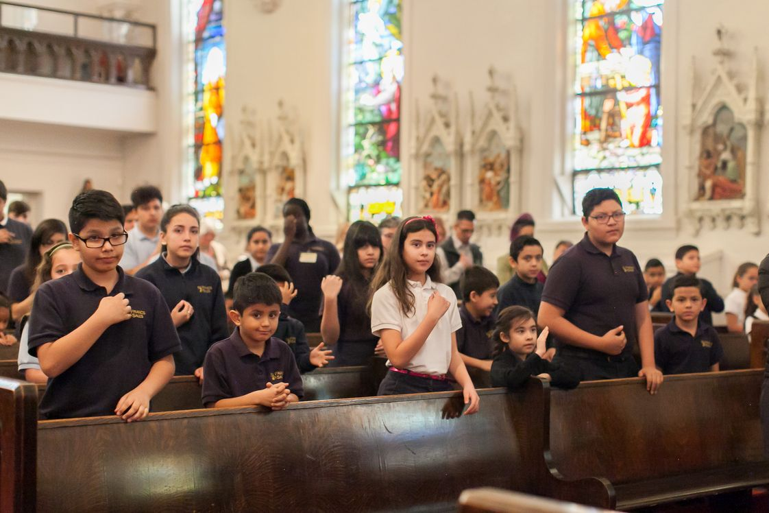 St Francis De Sales Catholic STEM School Photo #1 - Students at St. Francis de Sales Catholic School celebrate mass with Bishop Jorge Rodriguez. Photo credit: Nicole Withee