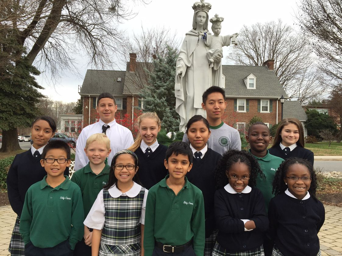 Holy Cross School Photo - MISSIONHoly Cross School provides an academically rich, faith-filled learning environment, thus ensuring a Catholic values based education. At Holy Cross, we strive to convey a sense of justice, peace, compassion, and respect for all God's creation.