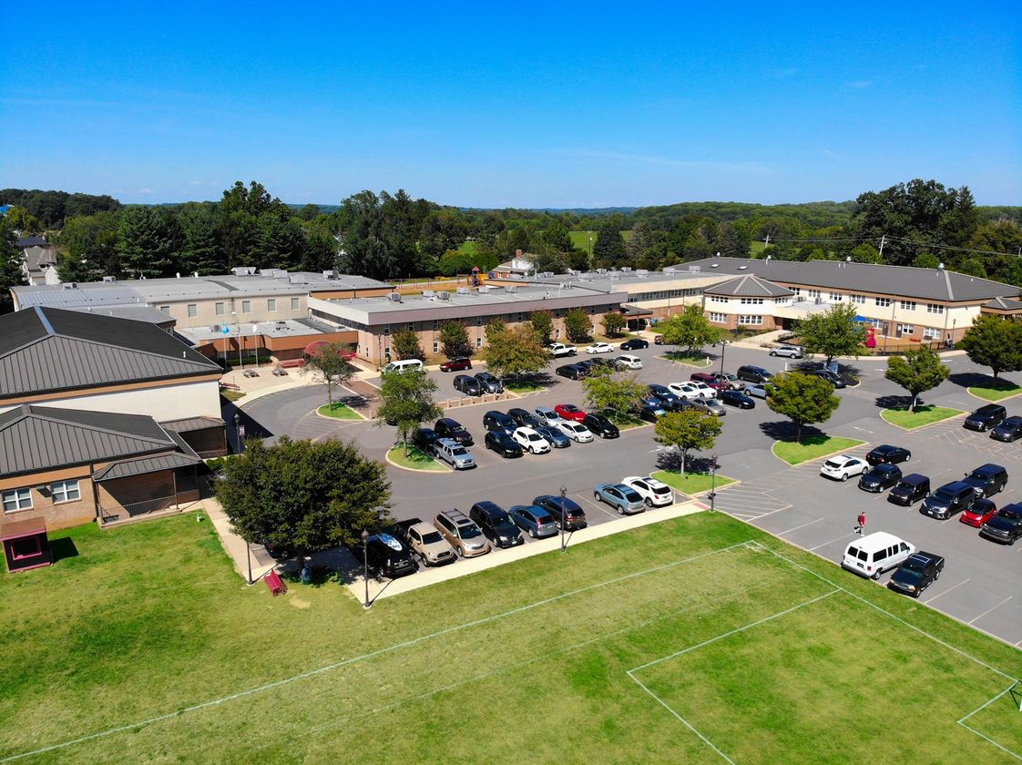 Wilmington Christian School Photo - Aerial view of Wilmington Christian School's suburban Hockessin location