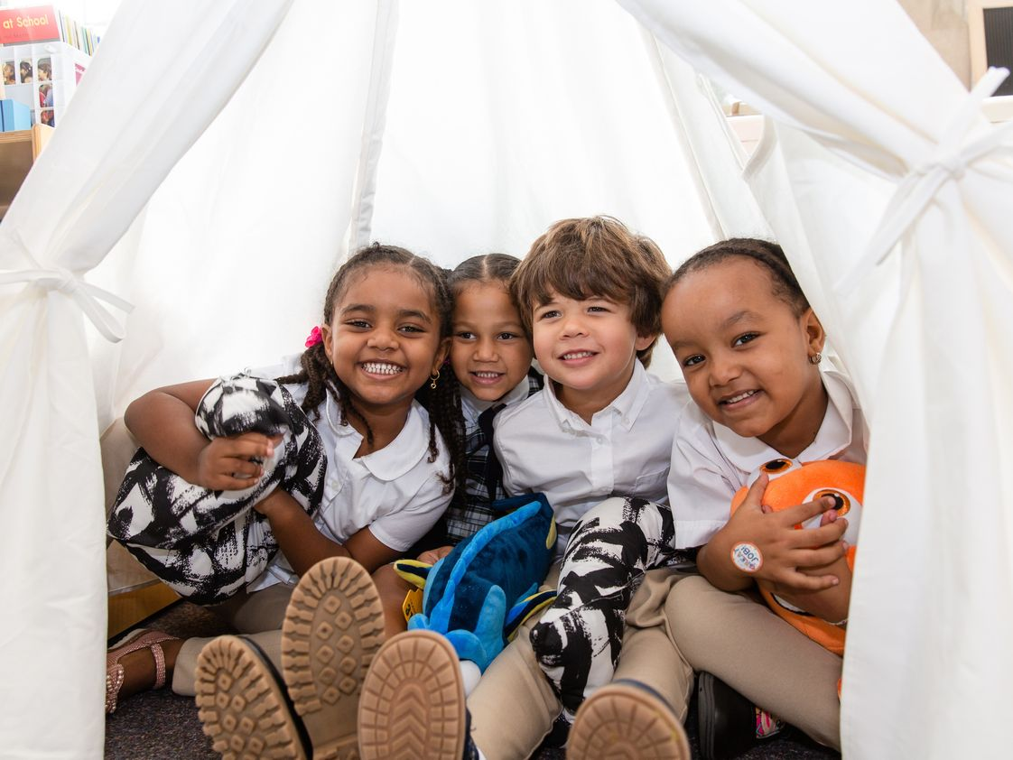 Annunciation Catholic School Photo - Kindergarten LOVES to read in their tent!