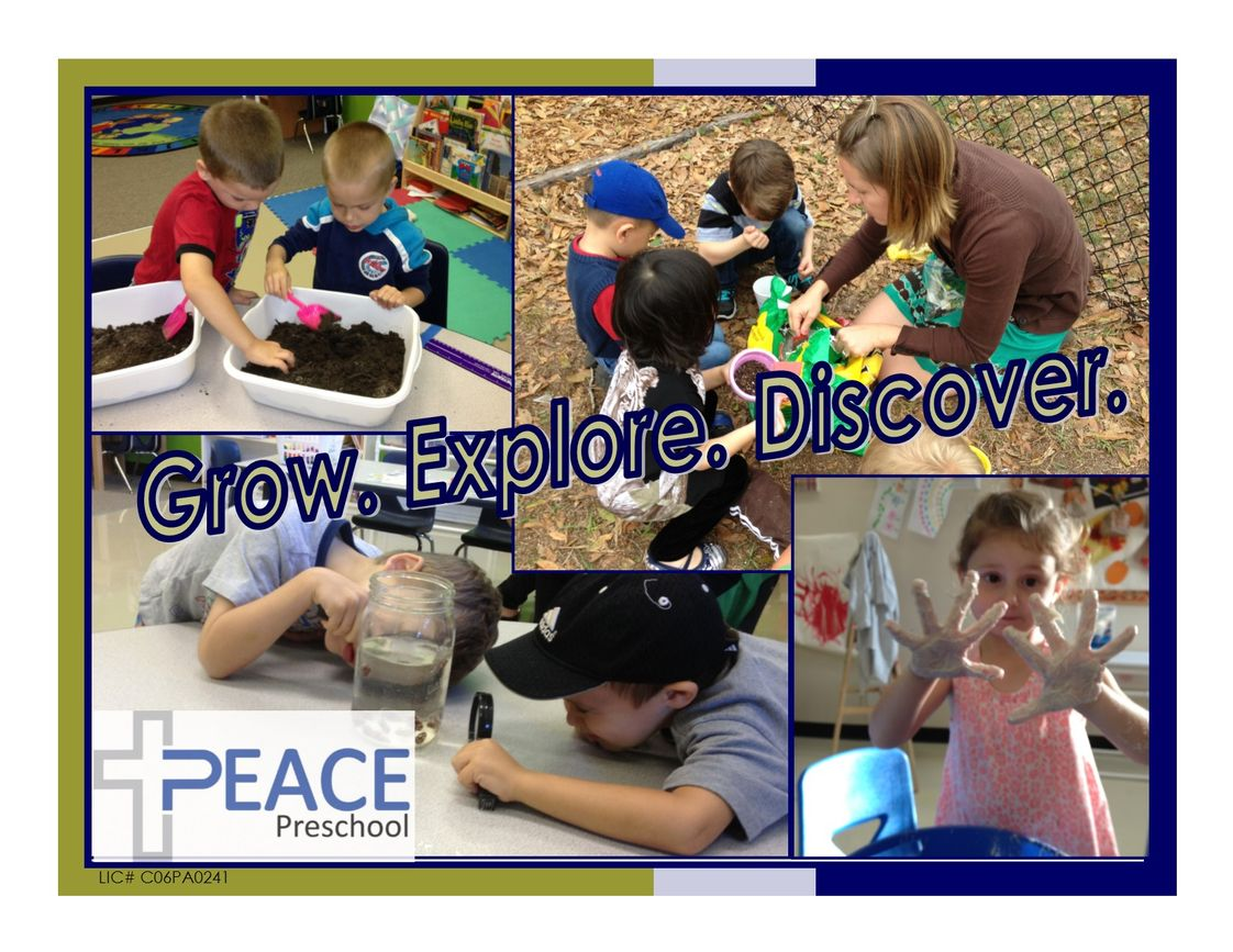 Peace Lutheran Preschool Photo - Your child is invited to join us as we grow, explore, and discover!