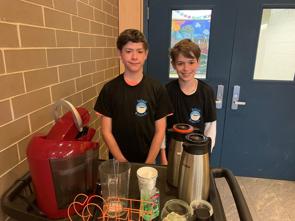 Knapp School and Yeshiva Photo #1 - School Grounds, the Knapp School and Yeshiva Coffee Cart, serves coffee and a smile on a daily basis. This coffee cart is supported by the school job program where students receive hands on work training and some are eligible to receive a paycheck too!