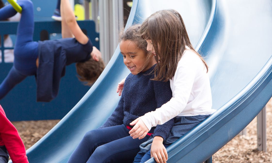 Lycee Francais De Chicago Photo - Our beautiful new outdoor spaces put big smiles on our students' faces!