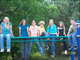 Students on the playground at recess. Tia, Sammi, Steffanie, Jessie, Jessica, Jackie & Jacob