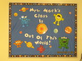This fun bulletin board welcomed back our 5th & 6th graders.