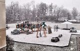 Rear View of the main Playground on a snowy day