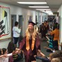 Grace Christian School Photo - Senior Walk - on the day of graduation our seniors walk the hall one final time!
