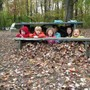 The Childrens House Photo - Leaf fort!! Hiding out with Isa, Liam, Riley, Fisher, Eva, and Teo!