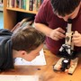 The Imago School Photo #3 - Observing God's world under a microscope!