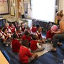 Ascension Catholic School Photo - Getting to know each other on the first day of 2nd grade.