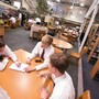 Bishop Eustace Prep School Photo #2 - Students working in our Library/Resource Center.