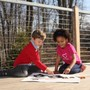 Far Brook School Photo #7 - Our classrooms open directly to the outdoors, enabling the students to experience the natural world in all seasons and weather. Often, children are found having classes in one of our many outdoor spaces.