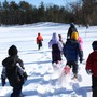 Saratoga Independent School Photo #2 - A winter gym class making use of our beautiful setting.