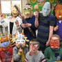 Zion Lutheran School Photo - Second and third graders at Zion Lutheran School, Owego, wrap up a unit on Native Americans by creating masks similar to those studied in class.