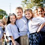 Saint Rose Catholic School Photo - Saint Rose Catholic School students celebrate the school's 150th Anniversary on the feast day of Saint Rose of Lima in August 2017.