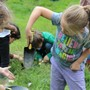 Garden Montessori School Photo #10 - Exploration in the garden and finding worms.