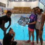 Alexandria Country Day School Photo #3 - Sixth graders test the SeaPerch underwater remotely operated vehicle they designed and built.