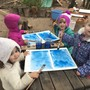 Live Oak Waldorf School Photo - Watercolor painting in the preschool!