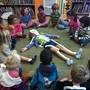 Crestmont School Photo - Kindergarteners learning about the skeletal system.