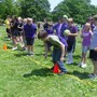 Alternative School For Math & Science Photo - The Purple Team competes for the win during the balloon race on Field Day.