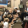 Covenant Christian Academy Photo - Our K-5 class enjoying a Bible lesson.