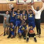 St George Academy Photo #1 - Boys basketball team celebrate their victory. Not shown are the girls volleyball and basketball teams.