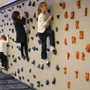 Park Street School Photo #5 - In our fabulous gym, first grade students traverse Park Street School's climbing wall, developing coordination, muscle tone and upper body strength.