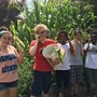 Academe Of The Oaks Photo - Academe student gardeners enjoy their Ears of Corn
