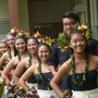 St. Francis School Photo - Aloha Show is an annual program which includes grades K-12. We honor a King and a Queen from the Senior class. Many students share their talents performing with their classmates in the Royal Court. Here are some high school students after their Hula performance.
